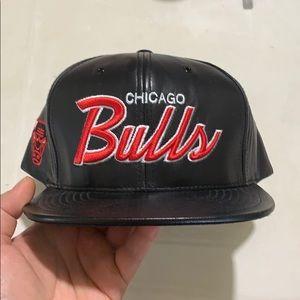 Chicago Bulls Mitchell & Ness Lamb Skin Hat